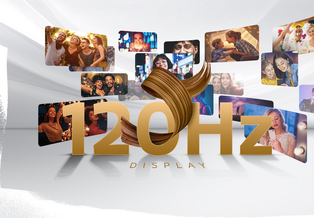 Ultra-fast 120Hz Display